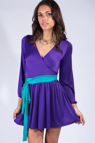 Royal Wrap Dress - Sugar Popped  - 1