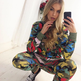 Fitted Glam Sweatsuit Camo Multi - Sugar Popped  - 2