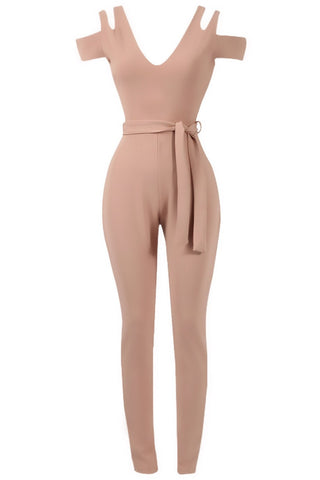 Sale* Sierra Cut Out Jumpsuit Nude