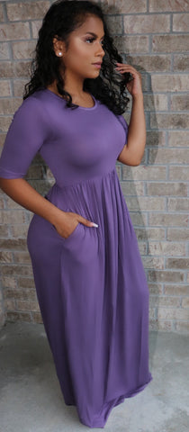 Moana Maxi Dress Lavender