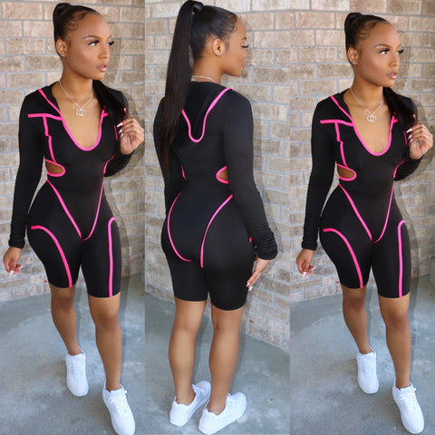 Mega Bodysuit Set  Hot Pink