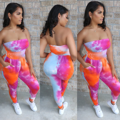 Sweet Tie Dye Jumpsuit Superfruit