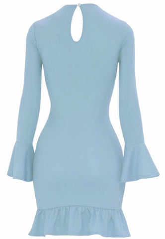 Doll Me Up Midi  Baby Blue