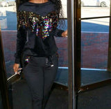 Glamour Sequin Sweatsuit Black