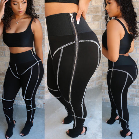 Runway Bandage 2-piece Set Black