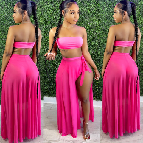 Halo Mesh Set Hot Pink