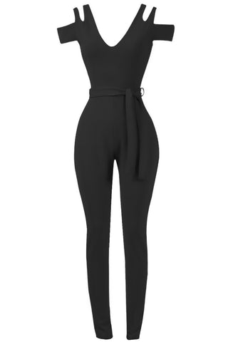 Sale* Sierra Cut Out Jumpsuit Black