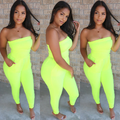 Raven Romper Lemon-Lime