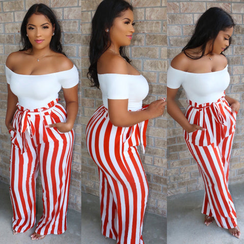 Nautical Jumpsuit Red