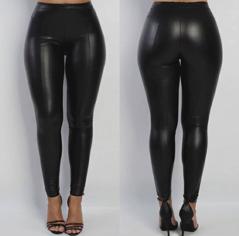 Sale* Vegan Leather Pants - Sugar Popped