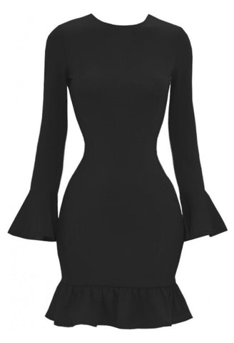 Doll Me Up Midi  Black