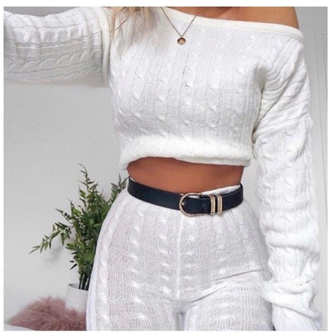 Quilted Lounge Set Cream