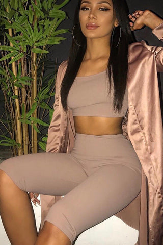 KW Crop Set Taupe