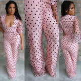 Blush Polka Jumpsuit