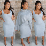 Double Knit Sweater Dress