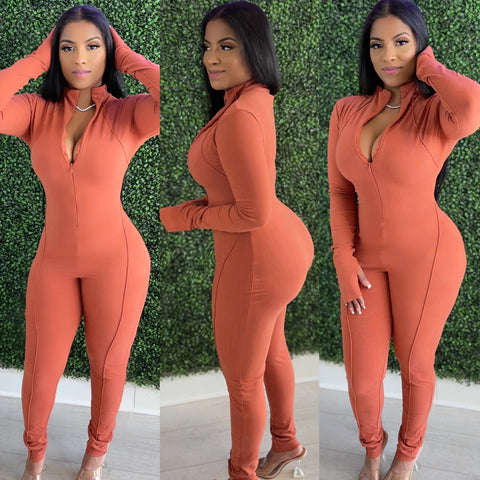 Suede Soft Jumpsuit