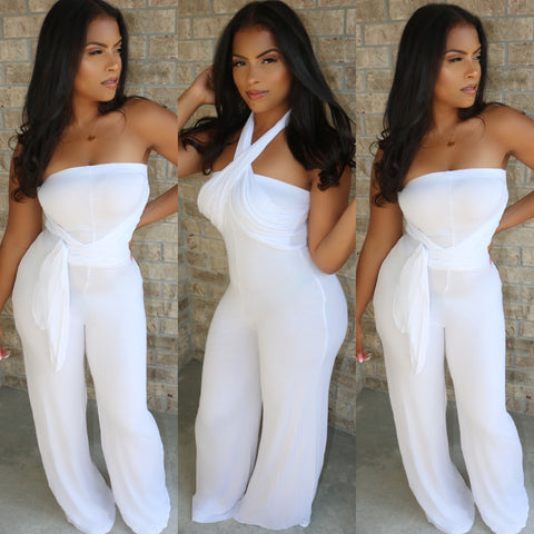 Multi Wrap Jumpsuit Ivory