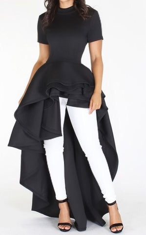 Cascade Ruffle Gown Top
