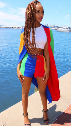 Color Block Couture Set