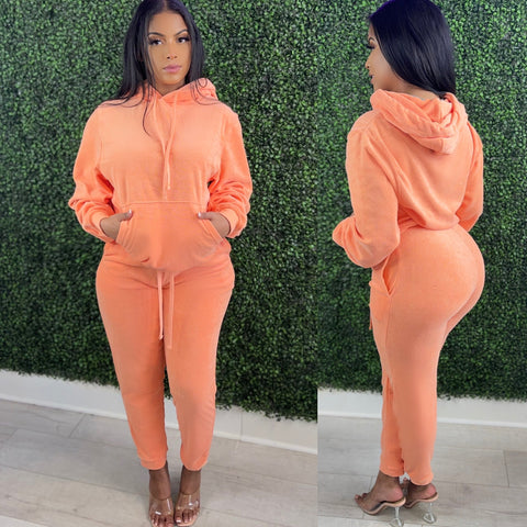 Perfect Peach Terry Set