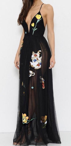 Wonderland Embroidered Gown