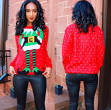 Santa's Helper Sweater Red - Sugar Popped  - 4