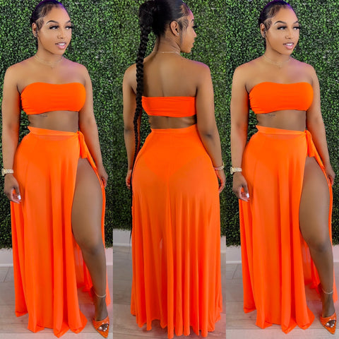 Halo Mesh Set Neon Orange