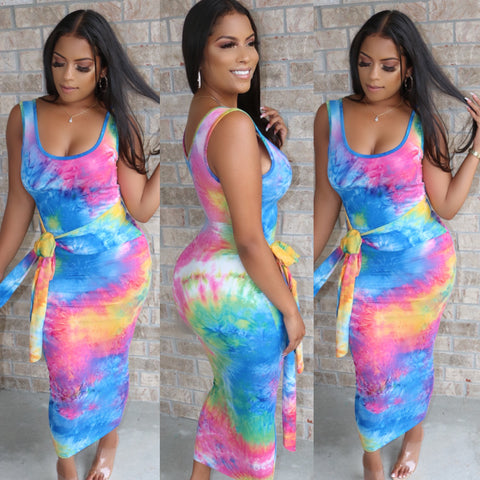 Snatched Midi Dress Cotton Candy
