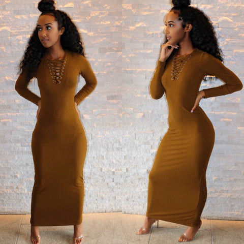 Soho Body-Ribbed Maxi