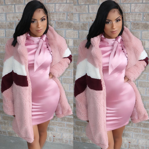 Blush & Berry Teddy Coat