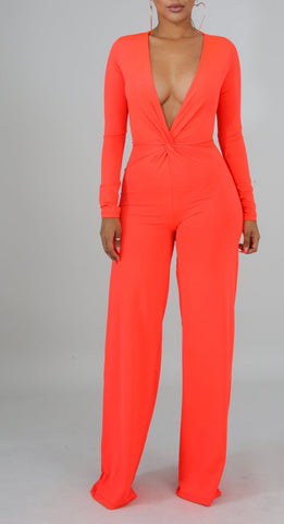 Sunset Deep V Jumpsuit