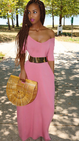 Essential Maxi Dress Blush Rose
