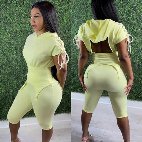 Backless Biker Set Lemon Lime