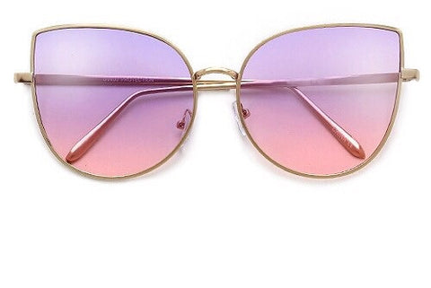 Sunset Cat Eye Sunglasses - Sugar Popped  - 1