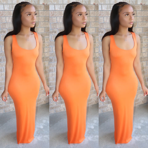 Ebony Maxi Dress Tangerine