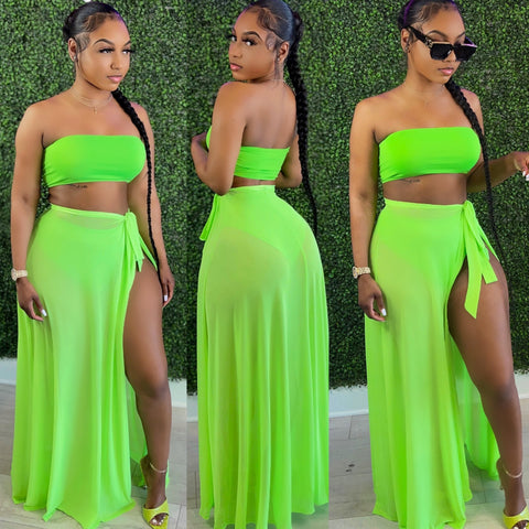Halo Mesh Set Lime