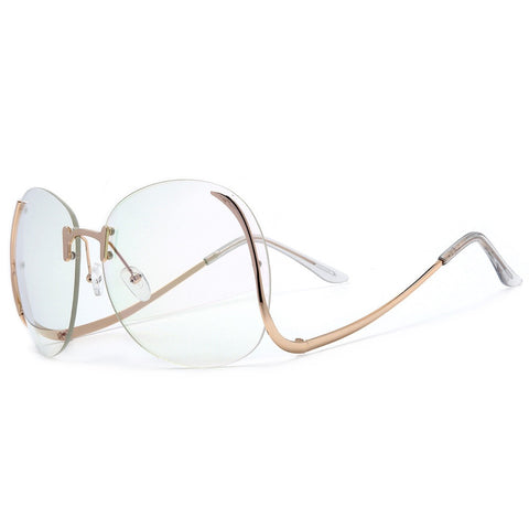 Rimless Hollywood Oversized Glasses - Sugar Popped  - 1