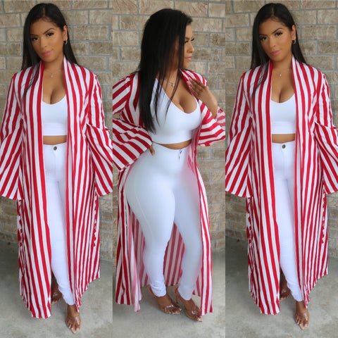 Hamptons Maxi Duster Red