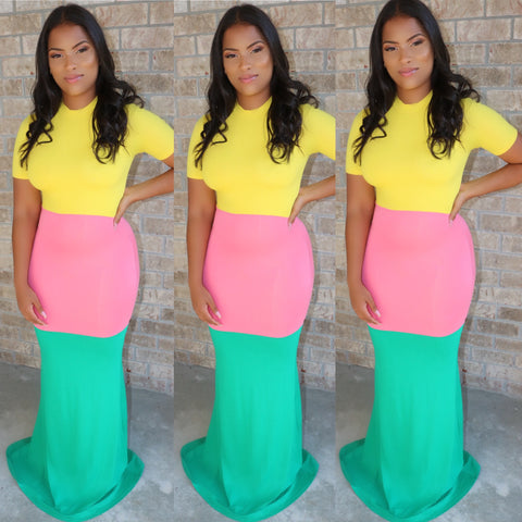 Sorbet Mermaid Maxi Pink