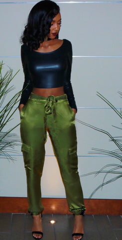 Sale* Khaki Cargo Pants - Sugar Popped