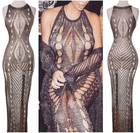 Sale* Metallic Gun Metal Maxi