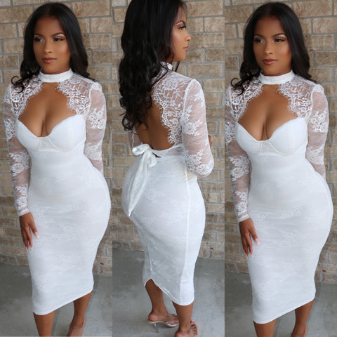 Angelic Lace Bodycon