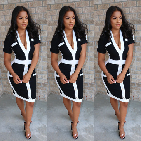 First Lady Terry Dress Black