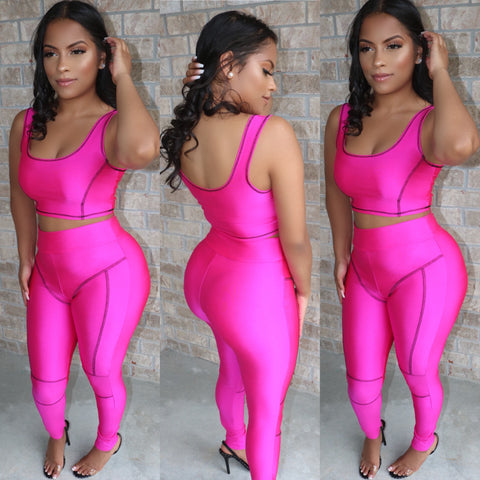 Sporty Chic Contour Set Fuchsia
