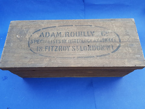Antique Adam Rouilly real human medical skeleton in box