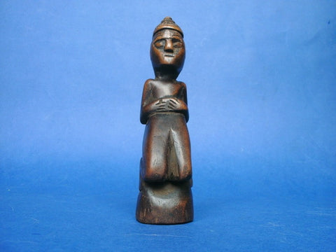 Folk art carved Santo figure