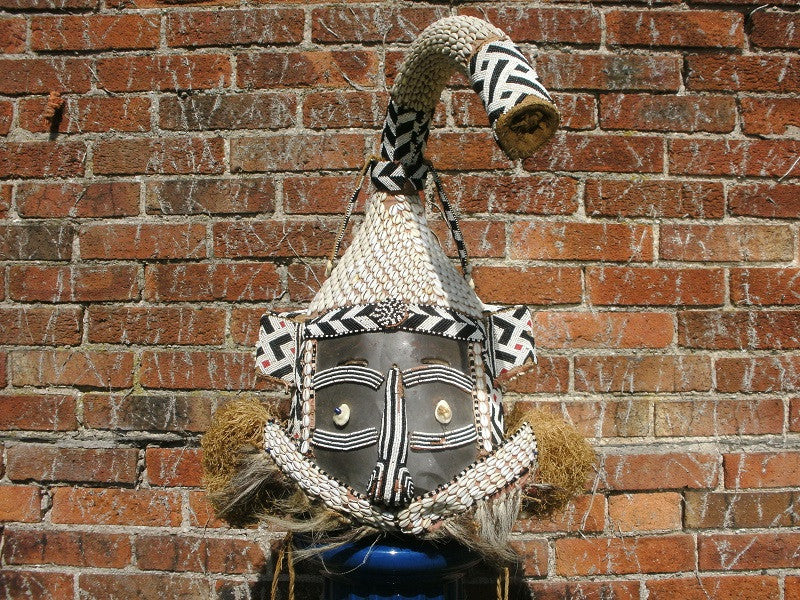Late 19th to mid 20th century Kuba Mukenga elephant mask. ex. Liberty antiques department