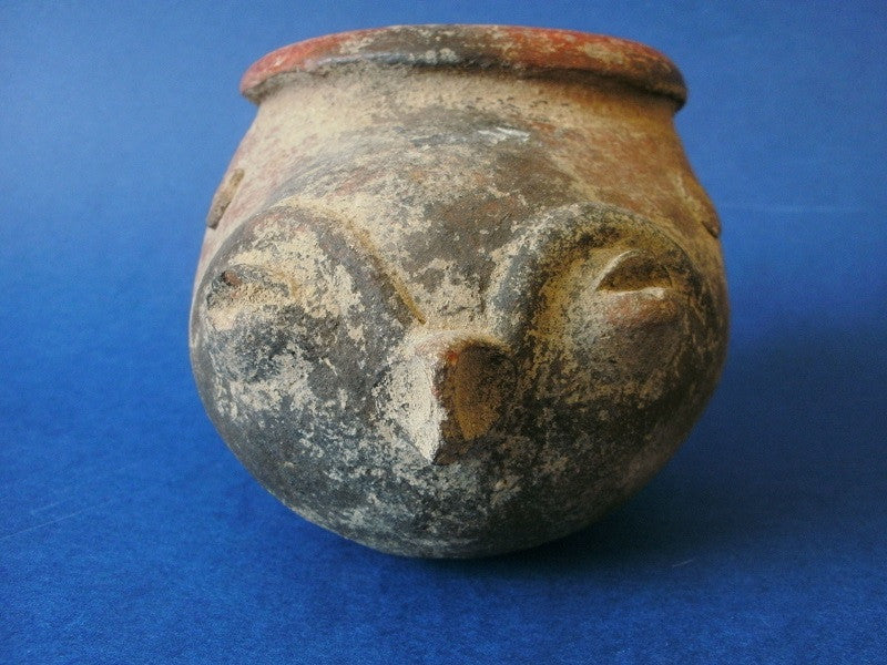 Pre Columbian zoomorphic Patojo slipper pot