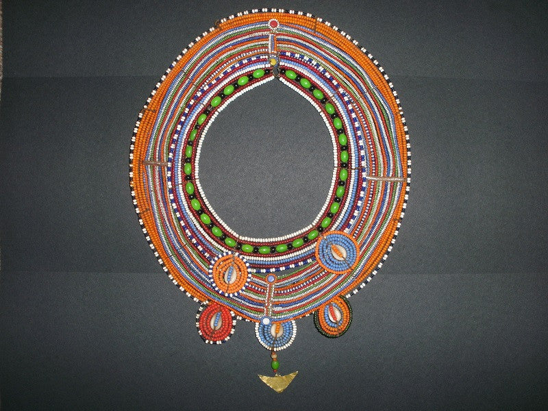 Vintage Maasai beaded collar set