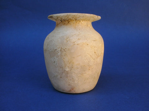 Ancient Egyptian Alabastron alabaster pot